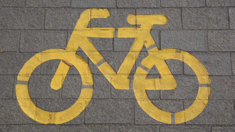 fietssignalisatie op straat